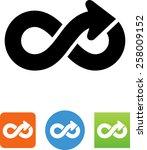 infinity icon   Shutterstock .eps vector #258009152