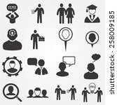 human resources icon | Shutterstock .eps vector #258009185