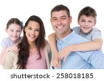 portrait of happy parents... | Shutterstock . vector #258018185