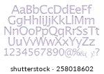 3d pearl metallic silver... | Shutterstock . vector #258018602