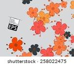 eps  floral background | Shutterstock .eps vector #258022475