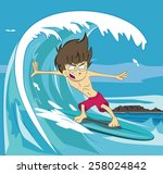 Surfer Vector Illustration