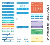 vector flat mobile web ui...