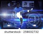 football player against... | Shutterstock . vector #258032732