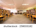 view of an empty library   Shutterstock . vector #258033182