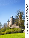 beautiful castle of veves with... | Shutterstock . vector #258034046