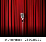 vintage metal microphone... | Shutterstock .eps vector #258035132