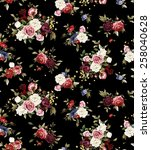 seamless floral pattern with... | Shutterstock . vector #258040628