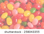blurred easter candy background | Shutterstock . vector #258043355