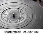 black and white music turntable  | Shutterstock . vector #258054482