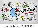 strategy development goal... | Shutterstock . vector #258060158