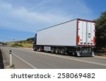 truck with long trailer ... | Shutterstock . vector #258069482