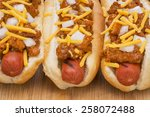 Chili Hot Dogs With Cheese And...