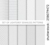 set of light grey seamless... | Shutterstock .eps vector #258079472