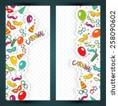 festive page  with carnival... | Shutterstock .eps vector #258090602