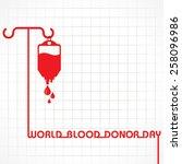 creative world blood donor day... | Shutterstock .eps vector #258096986