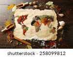 map of world made from... | Shutterstock . vector #258099812