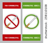 no smoking and smoking area... | Shutterstock .eps vector #258110108
