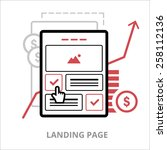 business icon. landing page....
