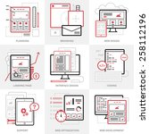 flat vector business icons set. ...
