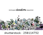 hand drawn background with... | Shutterstock .eps vector #258114752