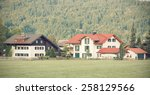 street with traditional country ... | Shutterstock . vector #258129566