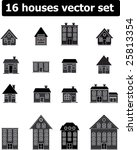 16 houses vector set | Shutterstock .eps vector #25813354