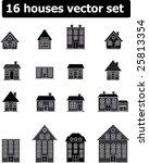 16 houses vector set | Shutterstock .eps vector #25813354