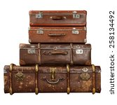 Pile Of Vintage Suitcases...