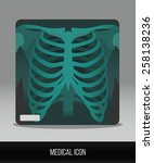 medical icon. vector flat icon... | Shutterstock .eps vector #258138236