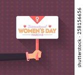 women's day flyer poster   hand ...   Shutterstock .eps vector #258156656