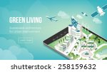 green city and sustainable... | Shutterstock .eps vector #258159632