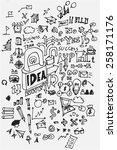business doodles | Shutterstock .eps vector #258171176