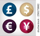 the currency signs of dollar ... | Shutterstock .eps vector #258173882