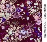 seamless pattern field of grass ... | Shutterstock . vector #258228608