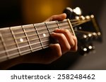 color detail of hand playing of ... | Shutterstock . vector #258248462