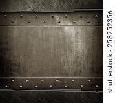 scratched metal template | Shutterstock . vector #258252356