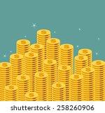 money staircase. vector... | Shutterstock .eps vector #258260906