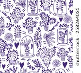 awesome vector fresh pattern of ... | Shutterstock .eps vector #258264035