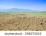 drought land against a blue sky ... | Shutterstock . vector #258272312