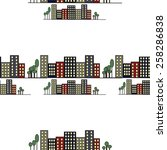 pattern of the background city... | Shutterstock .eps vector #258286838