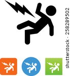 person being injured by... | Shutterstock .eps vector #258289502