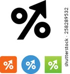 increasing percentage icon | Shutterstock .eps vector #258289532