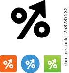 increasing percentage symbol | Shutterstock .eps vector #258289532