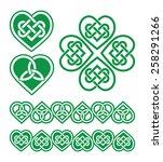 irish  scottish celtic green... | Shutterstock .eps vector #258291266