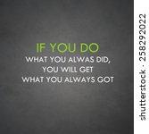 inspirational motivational life ...   Shutterstock . vector #258292022