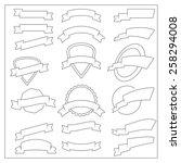 vector thin line design... | Shutterstock .eps vector #258294008