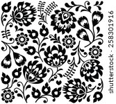 Polish Folk Art Black Pattern ...