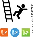 person falling off a ladder... | Shutterstock .eps vector #258317756