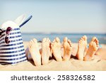 hats and summer concept   three ...   Shutterstock . vector #258326582
